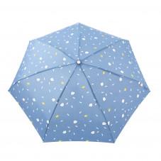 Guarda-chuva pequeno roxo - Estampado com nuvens