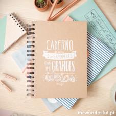"""Caderno com """"Superpoderes para ter grandes ideias"""""""