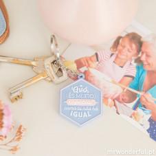 Porta-chaves - Avó, és muito especial, como tu não há igual! (PT)