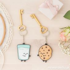 Conjunto de 2 porta-chaves - Para casais que fazem (PT)