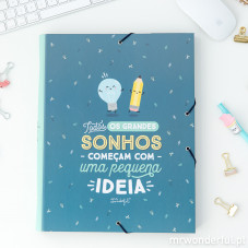 Pasta com separadores Mr.Wonderful