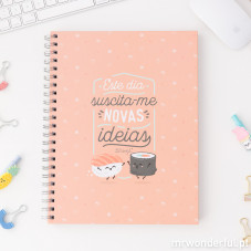 Caderno grande Mr.Wonderful