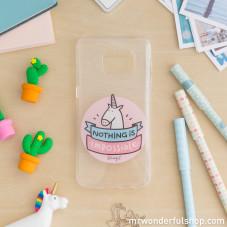 Capa para Samsung S7 - Unicórnio (ENG)