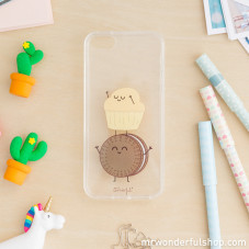 Capa transparente para iPhone 5/5S/5SE – Muffin