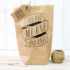 Pack de 5 bolsas kraft - You are my one and only