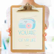 Póster summer com relevo - You are the soundtrack of my life