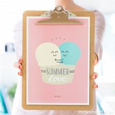Póster summer com relevo - Summer love