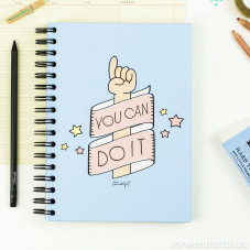 "Caderno colorido ""You can do it"" (ENG)"