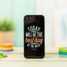 Capa preta para iPhone 5/5S - Today will be the best day