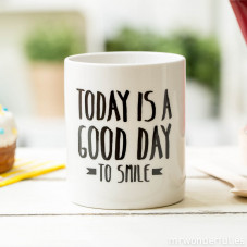 "Caneca ""Today is a good day to smile"" (ENG)"