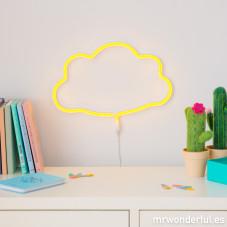 Luz Neon com forma de nuvem - Amarela