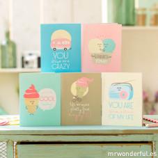 Sortido de postais de felicitações summer (ENG)