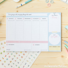 Weekly planner to make sure your week turns out great (ENG)