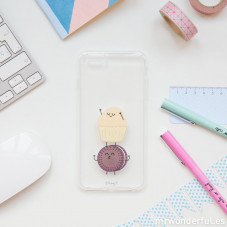 Capa transparente para iPhone 6 Plus – Muffin