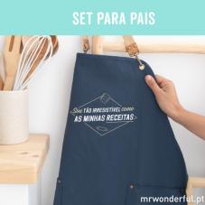 Set para pais cheios de projetos e ideias com pantufas de tamanho 44-47