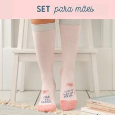 Set de oferta para mães imparáveis com pantufas de tamanho 39-41