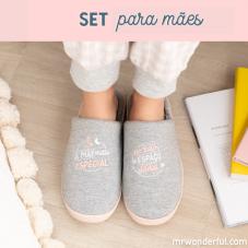 Set de oferta para mães maravilhosas com pantufas de tamanho 36-38