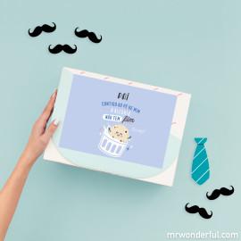 Kits personalizáveis para pais geniais a partir de: