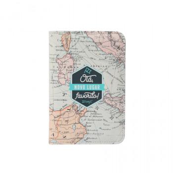 Capa para passaporte - Olá, novo lugar favorito!