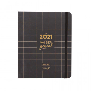 Agenda clássica 2021 Vista semanal - 2021 vai ser genial