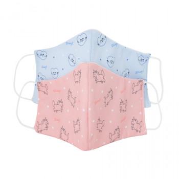Pack de 2 mascarillas de tela Adulto - Unicornios y corazones
