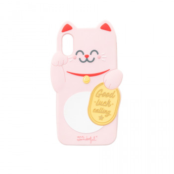 Capa para iPhone X/XS Maneki-neko - Lucky Collection