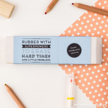 Rubber with superpowers to erase hard times and little problems (ENG)