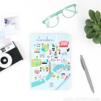 Caderno Lovely Streets - London