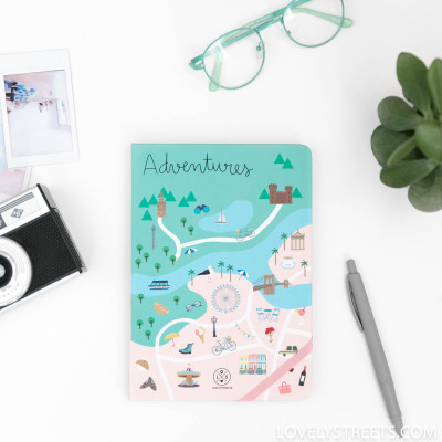 Caderno Lovely Streets - Adventures