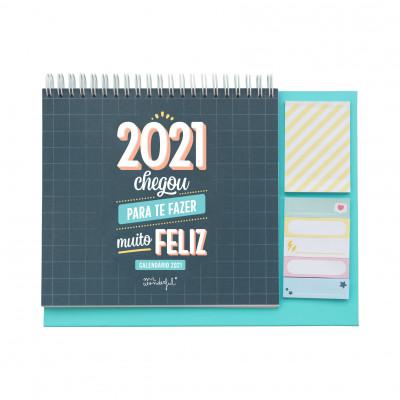 Calendário de mesa - 2021 chegou para fazer-te muito feliz