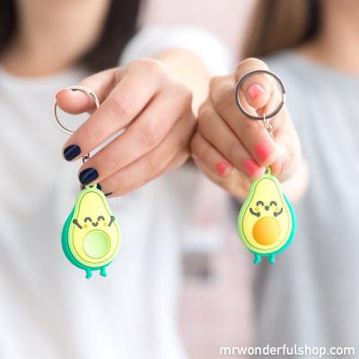 Conjunto de 2 porta-chaves abacate para os que encaixam na perfeição
