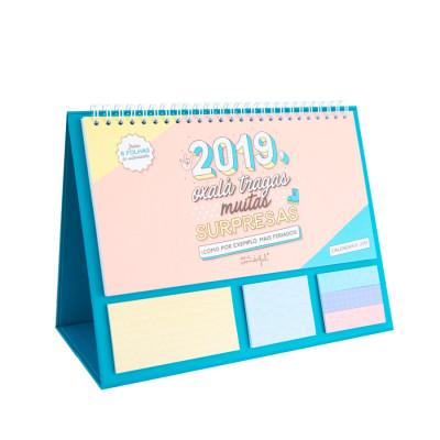 Calendário de mesa - 2019: oxalá tragas muitas surpresas (PT)