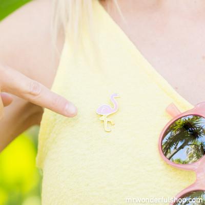 Pin com forma Flamingo de Oferta