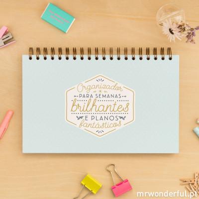 Organizador para semanas brilhantes e planos fantásticos (PT)