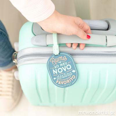 Etiqueta para bagagem - Rumo ao meu novo destino favorito (PT)