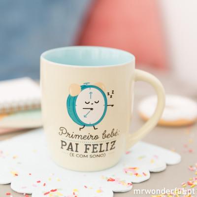 Caneca - Primeiro bebé: pai feliz (e com sono) (PT)