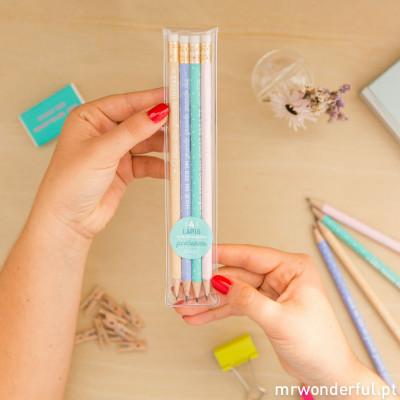 Pack de 4 lápis com mensagem geniais (PT)