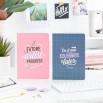 Conjunto de 2 cadernos A5 - Do it now, celebrate later