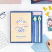 Conjunto de livro para preencher amor + 2 canetas com forma