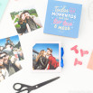 Caixa com álbum de fotos - Momentos que são tão teus e meus