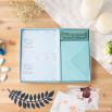 Set de 20 convites personalizáveis para batizado - Azul