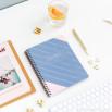 Organizador semanal em formato caderno - Coisas que disse que ia fazer (PT)