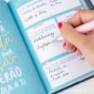 Agenda Anual Clássica pequena 2019 Vista diária - Coisas que prometo terminar (PT)