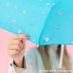 Guarda-chuva pequeno azul turquesa - Linha Sketch