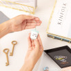 Milk glass key-ring for fresh people