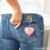 Porta-chaves coração com asas - Tu és um amor