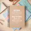 """Caderno com """"Superpowers that will make my recipes come out like my mother's"""" (ENG)"""