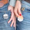 Conjunto de 2 porta-chaves – O nosso amor sushita-me os 5 sentidos (PT)