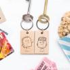 "Conjunto de dois porta-chaves ""Torrada e doce"""