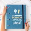 Dossier com argolas - Todos os grandes sonhos começam com uma pequena ideia (PT)
